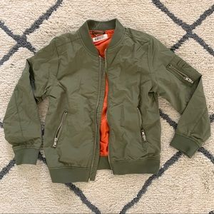 H&M Boys Green Full Zip Up Jacket Size 8-9 Years